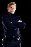 Самомоднейший герой дня держа нас совсем безопасным от преступников Стоковые Изображения RF