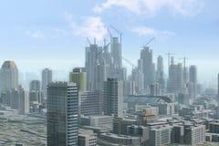 Самомоднейший город под конструкцией Стоковая Фотография