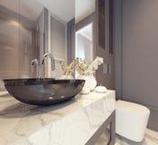 Самомоднейший дизайн интерьера ванной комнаты Стоковая Фотография RF