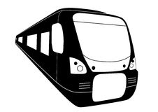 самомоднейший железнодорожный поезд Стоковое Изображение