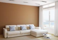 Самомоднейший жить-room Стоковое Изображение