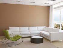 Самомоднейший жить-room Стоковое Изображение RF