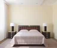 Самомоднейший интерьер спальни. иллюстрация вектора