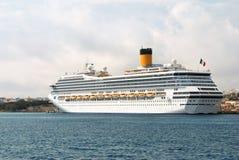 самомоднейший морской пассажирский корабль Стоковое фото RF