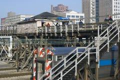 самомоднейший поезд станции Стоковое Изображение RF