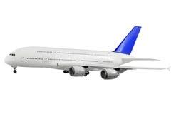 Самомоднейший самолет на белизне. стоковое изображение