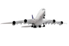 Самомоднейший самолет на белизне. стоковые изображения rf