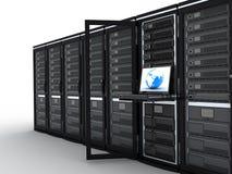 самомоднейший сервер комнаты иллюстрация штока