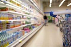 самомоднейший супермаркет Стоковые Изображения RF