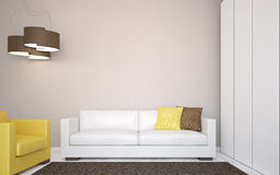 Самомоднейший living-room. Стоковое Фото