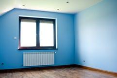Самомоднейшая голубая комната Стоковое Изображение RF