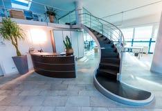 самомоднейшая лестница Концепция дела офиса Стоковое Фото