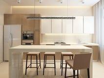 Самомоднейшая кухня Стоковые Фото