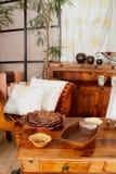 Античная деревянная мебель Стоковое фото RF