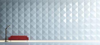 самомоднейшая минимальная живущая комната Стоковые Изображения RF