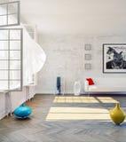 Самомоднейшая просторная квартира Стоковое Изображение RF