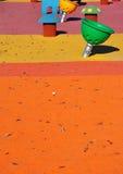 Самомоднейшая спортивная площадка малышей Стоковое фото RF