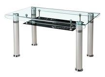 Самомоднейшая стеклянная верхняя обедая таблица стоковое фото rf