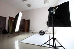 самомоднейшая студия фото Стоковая Фотография RF