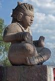 Самомоднейшая майяская статуя типа на туристической достопримечательности. Стоковое Изображение RF