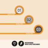 Самомоднейшее знамя вариантов потока операций тесемки Стоковое Изображение