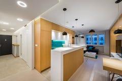 самомоднейшее квартиры нутряное Стоковое Изображение RF