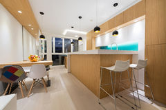 самомоднейшее квартиры нутряное Стоковые Фотографии RF