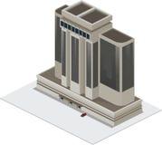 Самомоднейшее коммерчески здание Стоковые Фотографии RF