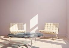 самомоднейшее кресла нутряное минимальное Стоковые Изображения