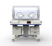Самомоднейшее оборудование больницы инкубатора младенца Стоковое фото RF