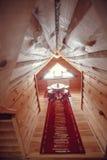 самомоднейшее дома нутряное часть живущей комнаты дома Абстрактный интерьер спальни нерезкости для предпосылки Интерьер уютной сп Стоковые Изображения