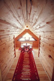 самомоднейшее дома нутряное часть живущей комнаты дома Абстрактный интерьер спальни нерезкости для предпосылки Интерьер уютной сп Стоковое фото RF