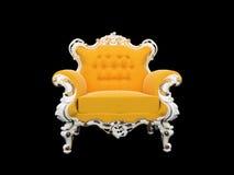 самомоднейшее предпосылки кресла изолированное чернотой Стоковые Изображения