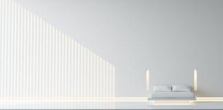 самомоднейшее спальни минимальное Стоковое Фото