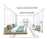 самомоднейшее спальни нутряное Стоковая Фотография RF