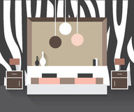 самомоднейшее спальни нутряное Стоковое фото RF