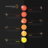 Самомоднейшее infographics шаблон ресторана конструкции принципиальной схемы вектор черный Стоковые Фото