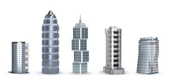 самомоднейшие небоскребы Стоковое Изображение RF
