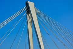 Самомоднейший висячий мост Стоковое Фото