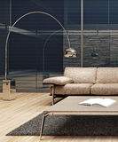 Самомоднейший минималист дизайн интерьера стоковая фотография