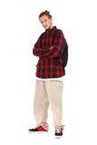 Самомоднейший мыжской студент с мешком школы Стоковые Фото