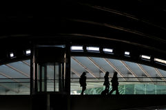 самомоднейший поезд станции Стоковые Фото