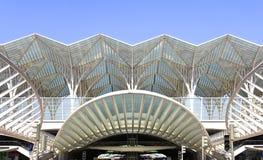 самомоднейший поезд станции Стоковые Изображения RF
