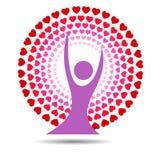 Самонаведите, логотип завода дома круга дома, значок символа природы завода, завод logo-01 круга домашний иллюстрация вектора