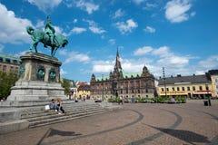 самонаводит городок malmo старый Швеции шведский традиционный Стоковые Фото