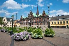 самонаводит городок malmo старый Швеции шведский традиционный Стоковые Изображения RF