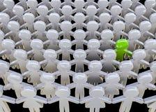 Самостоятельно в толпе Стоковые Фото