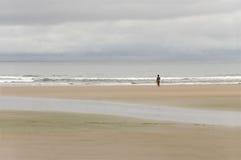 Самостоятельно на пляже Стоковая Фотография RF