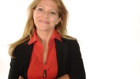 Самоуверенная женщина сток-видео