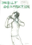 Самоуничтожение иллюстрация вектора